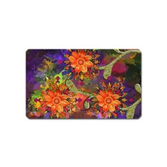 Abstract Flowers Floral Decorative Magnet (name Card)
