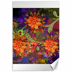 Abstract Flowers Floral Decorative Canvas 24  X 36