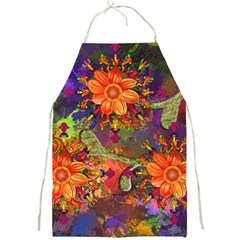 Abstract Flowers Floral Decorative Full Print Aprons by Amaryn4rt