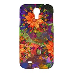 Abstract Flowers Floral Decorative Samsung Galaxy S4 I9500/i9505 Hardshell Case by Amaryn4rt