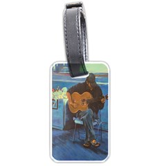 Man And His Guitar Luggage Tags (two Sides)