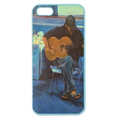 Man And His Guitar Apple Seamless Iphone 5 Case (color) by digitaldivadesigns