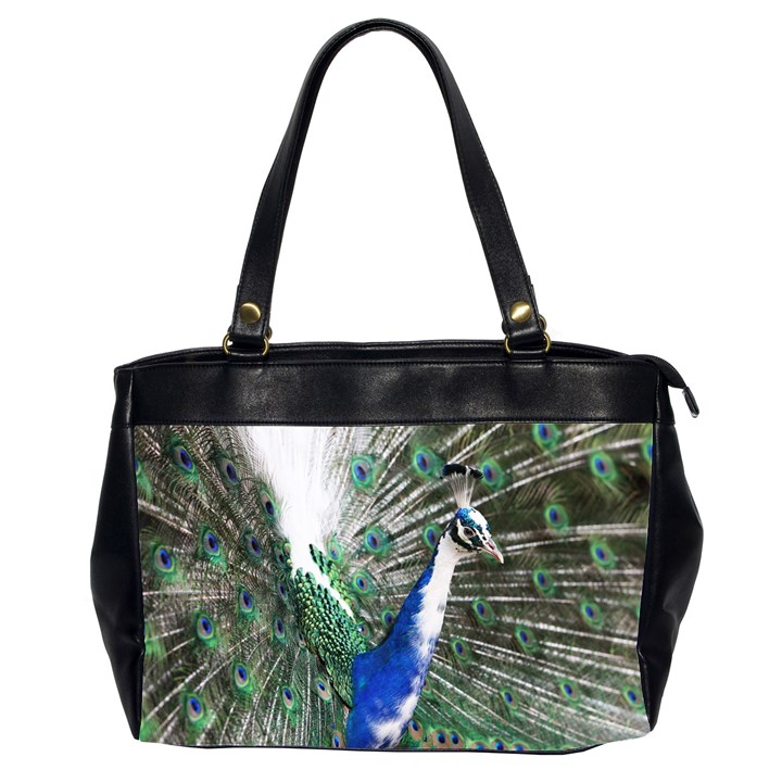 Animal Photography Peacock Bird Office Handbags (2 Sides)