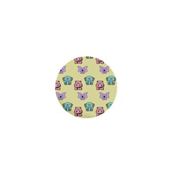 Animals Pastel Children Colorful 1  Mini Buttons by Amaryn4rt