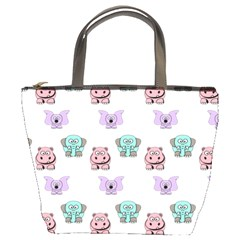 Animals Pastel Children Colorful Bucket Bags
