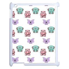 Animals Pastel Children Colorful Apple Ipad 2 Case (white) by Amaryn4rt
