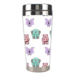 Animals Pastel Children Colorful Stainless Steel Travel Tumblers