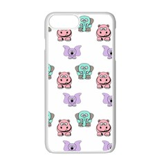 Animals Pastel Children Colorful Apple Iphone 7 Plus White Seamless Case by Amaryn4rt