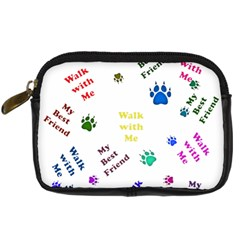 Animals Pets Dogs Paws Colorful Digital Camera Cases by Amaryn4rt
