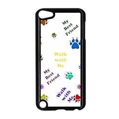 Animals Pets Dogs Paws Colorful Apple Ipod Touch 5 Case (black)