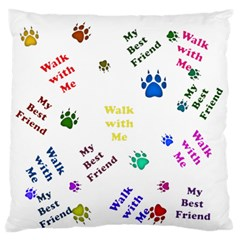 Animals Pets Dogs Paws Colorful Large Flano Cushion Case (one Side)