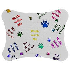 Animals Pets Dogs Paws Colorful Jigsaw Puzzle Photo Stand (bow)
