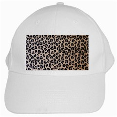 Background Pattern Leopard White Cap by Amaryn4rt
