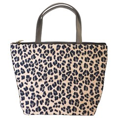 Background Pattern Leopard Bucket Bags