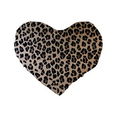 Background Pattern Leopard Standard 16  Premium Heart Shape Cushions by Amaryn4rt
