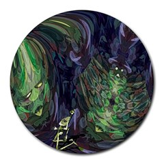 Backdrop Background Abstract Round Mousepads by Amaryn4rt