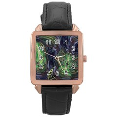 Backdrop Background Abstract Rose Gold Leather Watch  by Amaryn4rt