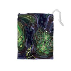 Backdrop Background Abstract Drawstring Pouches (medium)  by Amaryn4rt