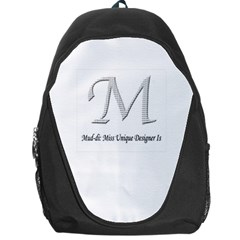 Mud Di Signature Title  Backpack Bag by MissUniqueDesignerIs