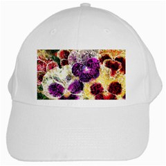 Background Flowers White Cap by Amaryn4rt