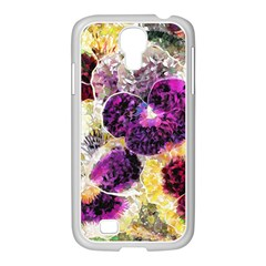 Background Flowers Samsung Galaxy S4 I9500/ I9505 Case (white) by Amaryn4rt