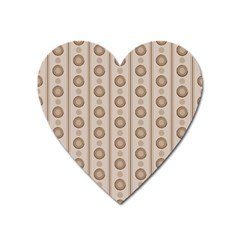 Background Rough Stripes Brown Tan Heart Magnet by Amaryn4rt