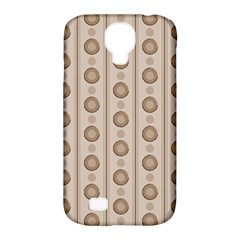 Background Rough Stripes Brown Tan Samsung Galaxy S4 Classic Hardshell Case (pc+silicone)