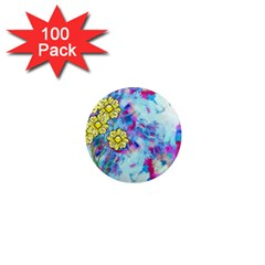 Backdrop Background Flowers 1  Mini Magnets (100 Pack)  by Amaryn4rt