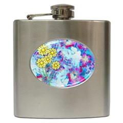 Backdrop Background Flowers Hip Flask (6 Oz) by Amaryn4rt