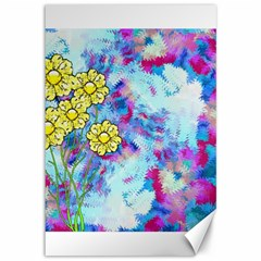 Backdrop Background Flowers Canvas 12  X 18