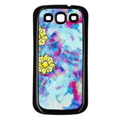 Backdrop Background Flowers Samsung Galaxy S3 Back Case (black)