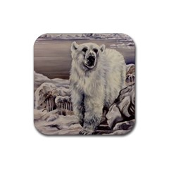 Polar Bear Rubber Coaster (square)