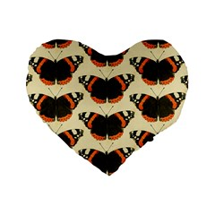 Butterfly Butterflies Insects Standard 16  Premium Flano Heart Shape Cushions by Amaryn4rt