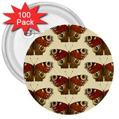 Butterfly Butterflies Insects 3  Buttons (100 Pack)  by Amaryn4rt
