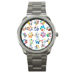 Colorful Prismatic Rainbow Animal Sport Metal Watch by Amaryn4rt