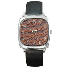 Elephant Skin Square Metal Watch by Amaryn4rt