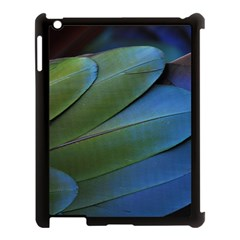 Feather Parrot Colorful Metalic Apple Ipad 3/4 Case (black) by Amaryn4rt