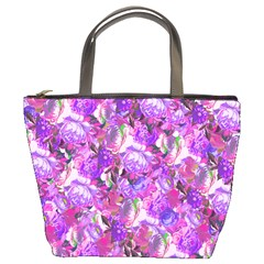 Flowers Abstract Digital Art Bucket Bags