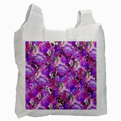 Flowers Abstract Digital Art Recycle Bag (one Side)