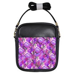 Flowers Abstract Digital Art Girls Sling Bags by Amaryn4rt