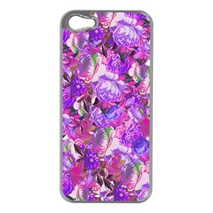 Flowers Abstract Digital Art Apple Iphone 5 Case (silver) by Amaryn4rt