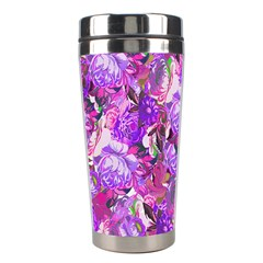 Flowers Abstract Digital Art Stainless Steel Travel Tumblers by Amaryn4rt