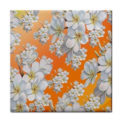 Flowers Background Backdrop Floral Tile Coasters by Amaryn4rt