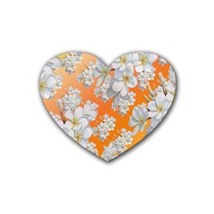 Flowers Background Backdrop Floral Heart Coaster (4 Pack)