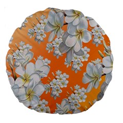 Flowers Background Backdrop Floral Large 18  Premium Round Cushions