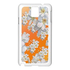 Flowers Background Backdrop Floral Samsung Galaxy Note 3 N9005 Case (white) by Amaryn4rt