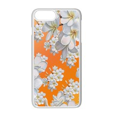 Flowers Background Backdrop Floral Apple Iphone 7 Plus White Seamless Case by Amaryn4rt