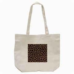 Giraffe Animal Print Skin Fur Tote Bag (cream)