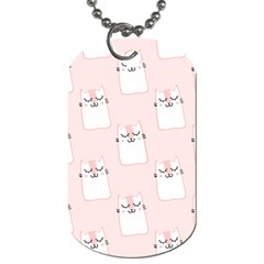 Pattern Cat Pink Cute Sweet Fur Dog Tag (two Sides) by Amaryn4rt
