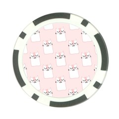 Pattern Cat Pink Cute Sweet Fur Poker Chip Card Guard (10 Pack) by Amaryn4rt